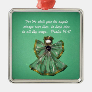 Psalm 91:11 christmas ornament