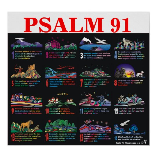 Psalm 91:1-16 poster