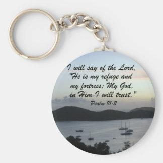Psalm 91:2 key ring