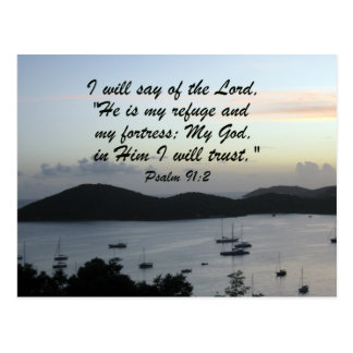 Psalm 91:2 postcard