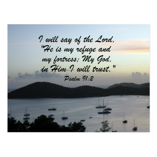 Psalm 91:2 post cards