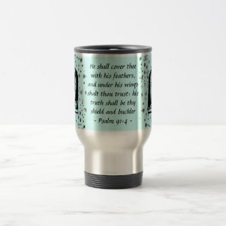 Psalm 91:4 travel mug