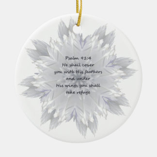 Psalm 91:4 Wings God's protection Christmas Ornament