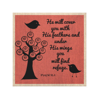 Psalm 91:4 Wrapped Canvas Gallery Wrapped Canvas