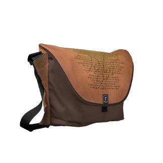 Psalm 91 Bible Verse Messenger Bag