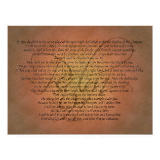 Psalm 91 Bible Verse Poster