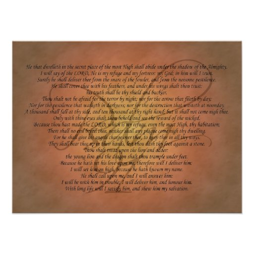 Psalm 91 Bible Verse Poster