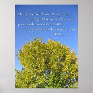 Psalm 92 Blue Sky Poster