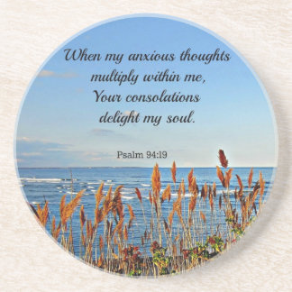 Psalm 94:19 When my anxious thoughts... Coaster