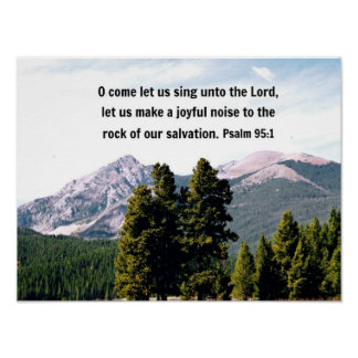 Psalm 95 1 O come let us sing unto the Lord Print
