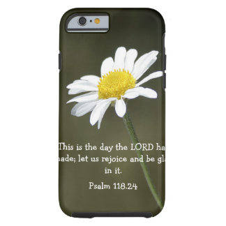 Psalm bible verse and daisy iPhone 6 case