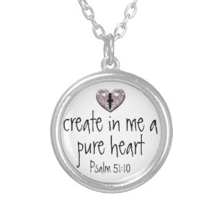 Psalm create in me a pure heart necklace