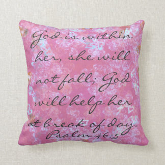 Psalm scripture God is within her throw pillow