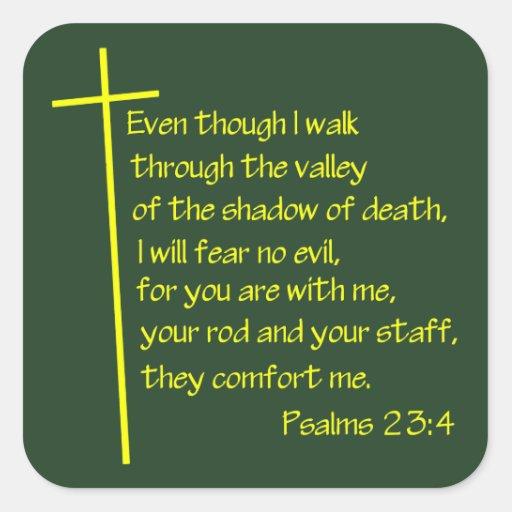 Psalms23-4 Yellow Sticker