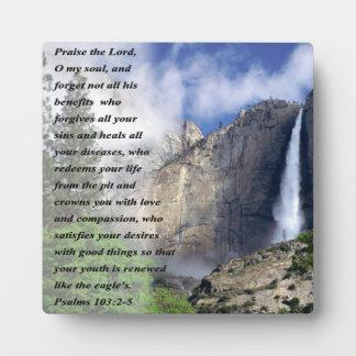 Psalms 103:2-5 plaque