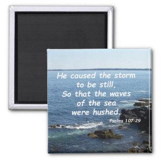 Psalms 107:29 magnet