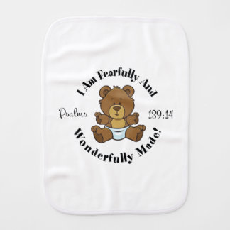 Psalms 139:14 burp cloth