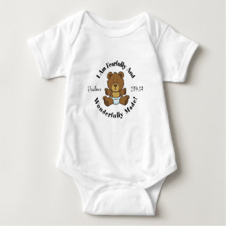 Psalms 139:14 Design Baby Bodysuit