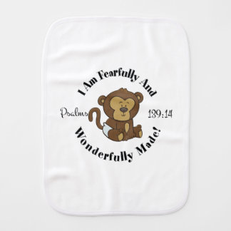 Psalms 139:14 Design for babies and young children Burp Cloth