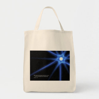 Psalms 19:2 grocery tote bag