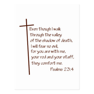 Psalms 23:4 postcard