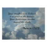 Psalms 36:5 posters