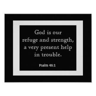 Psalms 46:1 --- Art Print-- Book of Psalms Poster