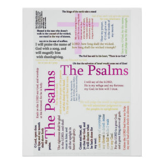 Psalms Bible   Related Text Poster