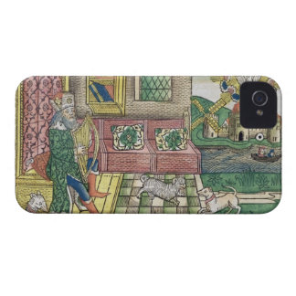 Psalms: frontispiece showing King David playing th iPhone 4 Case-Mate Case