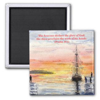 'Psalms & Watercolours' Magnet