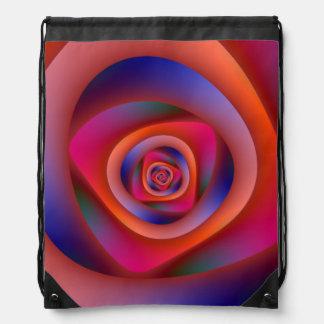Pschedelic Spiral Labyrinth Drawstring Bag