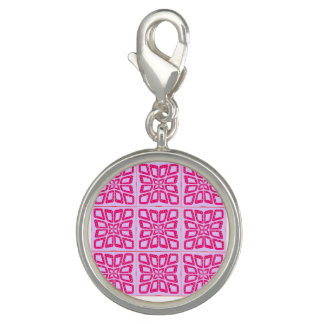 PSG Dots Pinched Tiles Round Charm, Silver Plated