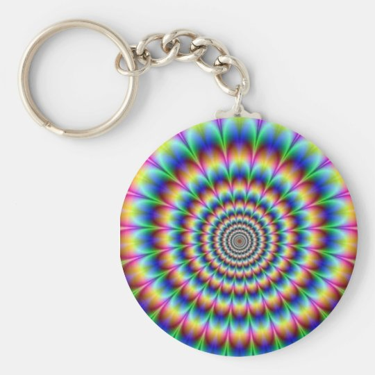 psícodélico basic round button key ring