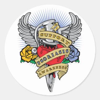 Psoriasis Dagger Sticker