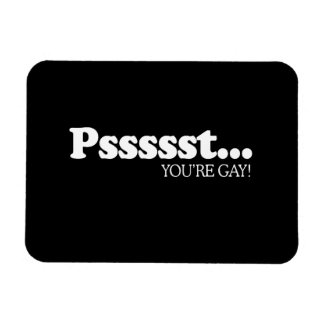 Pssst... You're gay  Rectangular Photo Magnet