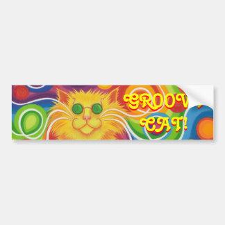 Psy-cat-delic 'Groovy Cat' bumper sticker