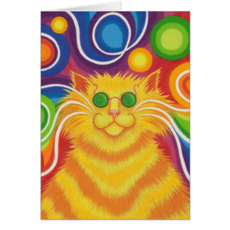 Psy-cat-delic 'Groovy Day' greetings card