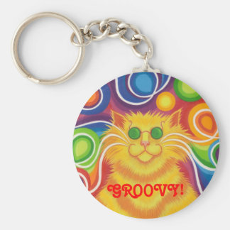 Psy-cat-delic 'Groovy!' keychain