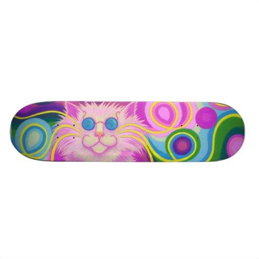 Psy-cat-delic Pink skateboard