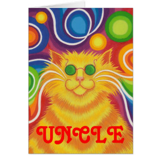 Psy-cat-delic 'Uncle' 'groovy birthday' card