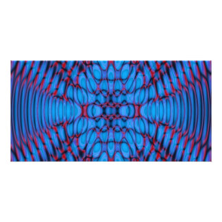 psyblue fractal personalized photo card