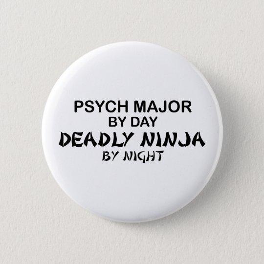 Psych Major Deadly Ninja 6 Cm Round Badge