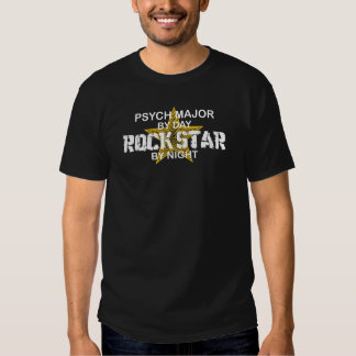 Psych Major Rock Star by Night Tee Shirts