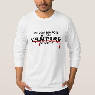 Psych Major Vampire by Night T-Shirt