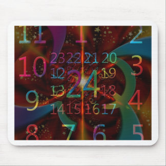 Psychadelic numbers pattern mesmerising design mousepads