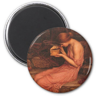 Psyche and Golden Box 6 Cm Round Magnet