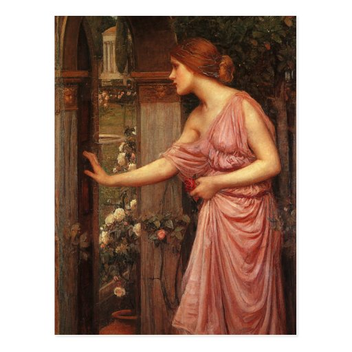 Psyche Entering Cupid's Garden by Waterhouse Post Cards