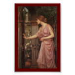 Psyche Entering Cupid's Garden Poster