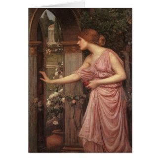 Psyche Opening the Door into Cupid's Garden Greeting Card