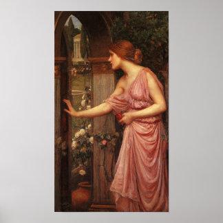 Psyche Pre Raphaelite by John W. Waterhouse Poster